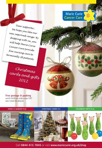 Download the shop catalogue - Marie Curie Cancer Care