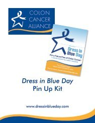 Dress in Blue Day Pin Up Kit - Colon Cancer Alliance