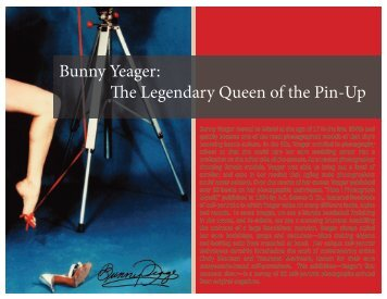Bunny Yeager: The Legendary Queen of the Pin-Up - Andy Warhol ...
