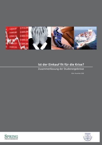 Ist der Einkauf fit für die Krise? - Spring Procurement GmbH