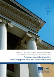 Assessing educational quality: Knowledge production and the role ...
