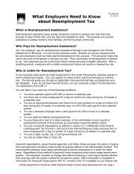 What Employers Need to Know about Reemployment Tax - Florida ...
