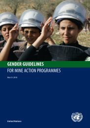 gender guidelines for mine action programmes - United Nations
