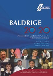 Baldrige 2020: an Executive's Guide to the Performance Excellence ...