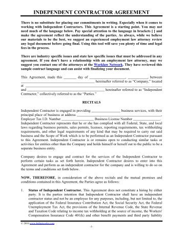 Independent Contractor Agreement Independent Brokers Realty