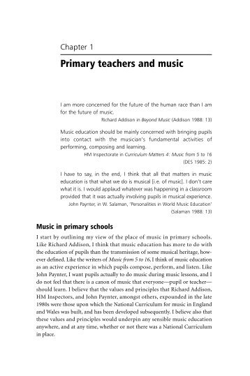 Primary teachers and music - Edition Peters