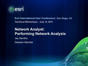 Network Analyst: Performing Network Analysis - Esri