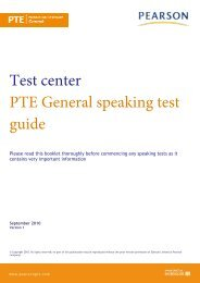 PTE General - Pearson Test of English
