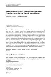 Ritual and Performance in Domestic Violence Healing: From ...