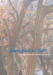 Jahresbericht 2007 - Alterszentrum im Geeren
