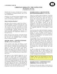 christian morality: the faith lived 19 - Ascension Catholic Church