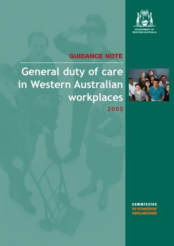 General duty of care in Western Australian workplaces