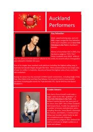 Auckland Performers - Coca-Cola Christmas In The Park