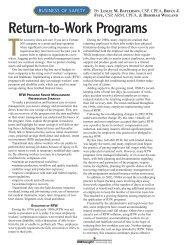 Return-to-Work Programs