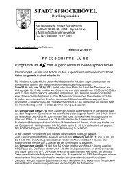 Pressemitteilung Herbst11 - Sprockhövel