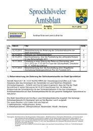 Ausgabe 10/12 - Sprockhövel