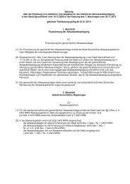 Gebührensatzung Entwässerung ab 2013 - Sprockhövel