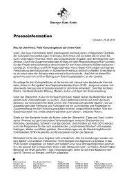 Presseinformation - Sprockhövel