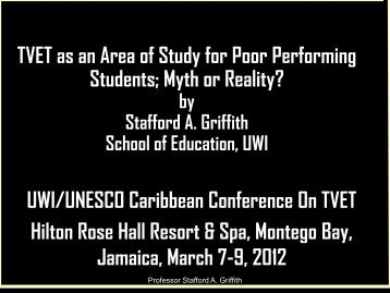 PB1 TVET as an Area of Study for - SOE Conferences