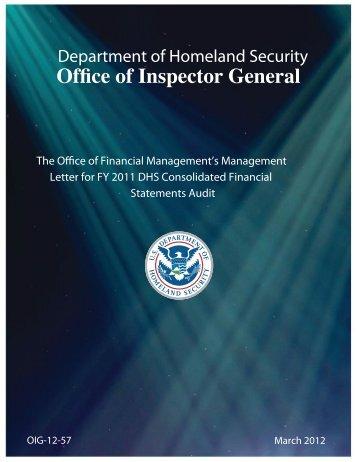 OIG – 12 - Office of Inspector General - Homeland Security