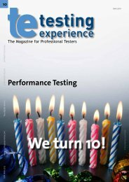 Agile Performance Testing - Testing Experience