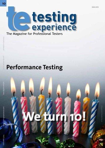 Agile Performance Testing - Testing Experience