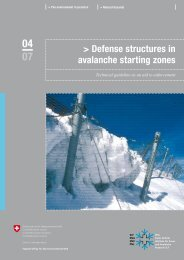 Defense structures in avalanche starting zones - SLF