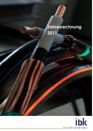 Jahresrechnung 2011 Netz Elektrizitätswerk BILANZ