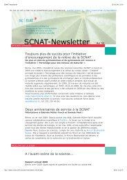 Toujours plus de succès pour l'initiative d'encouragement ... - SCNAT