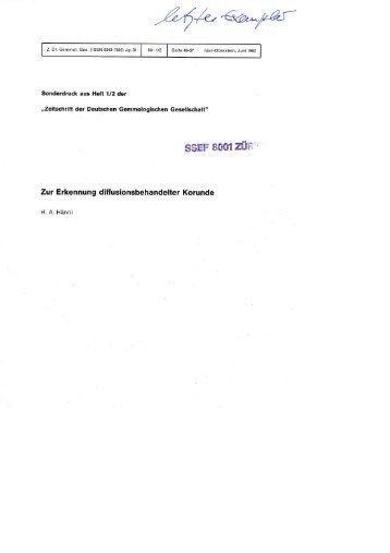 Zur Erkennung diffusionsbehandelter Korunde - SSEF