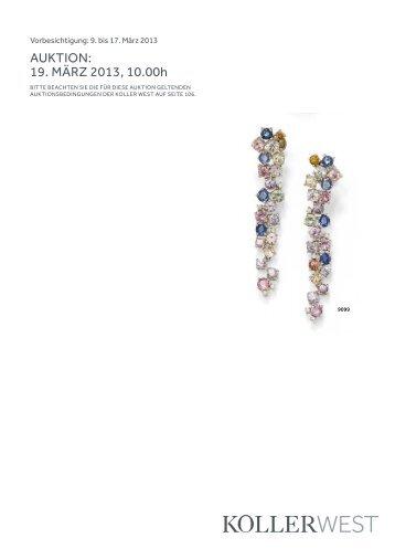Auktion: 19. März 2013, 10.00h - Koller Auktionen