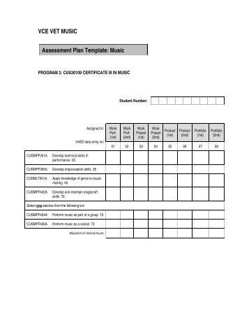 Sample Assessment Plan