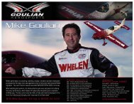 With Mike Goulian, the sky is NEVER the limit! - Whelen Engineering