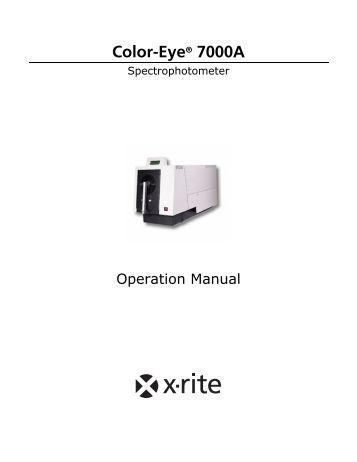 x rite spectroeye manual transmission