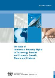 The Role of Intellectual Property Rights in Technology ... - Unido