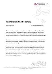 Internationale Marktforschung - Isopublic