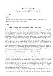 Characteristics of DC Generators 1 Aim 2 Theory