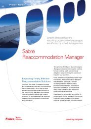 Sabre Reaccommodation Manager - Sabre Airline Solutions