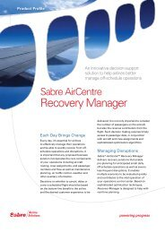 Recovery Manager - Sabre Airline Solutions