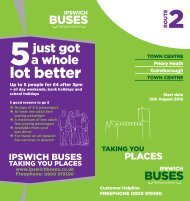 View Timetable - Ipswich Buses