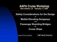 Design of Mobile Elevating Gangways and Passenger Boarding ...
