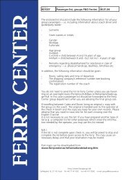 Passenger list, groups P&O Ferries 08.01.04 801007 ... - Ferry Center