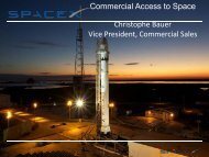Commercial Access to Space Christophe Bauer Vice President ...