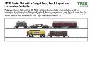 11130 Starter Set with a Freight Train, Track Layout, and Locomotive ...