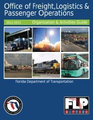 Office of Freight, Logistics & Passenger Operations - Florida ...