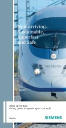Now arriving... Sustainable, Superfast and Safe - Siemens