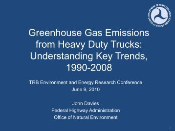 Greenhouse Gas Emissions from U.S. Heavy-Duty Trucks