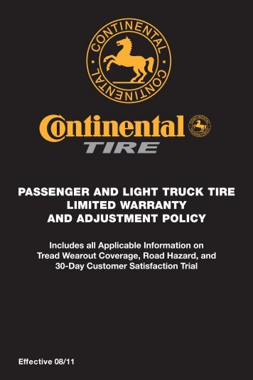 PASSENGER AND LIGHT TRUCK TIRE LIMITED ... - Tire Rack