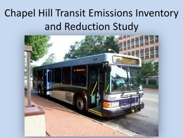 Chapel Hill Transit Emissions Inventory
