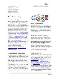 Besser finden mit Google Google speichert ... - Keel Marktideen